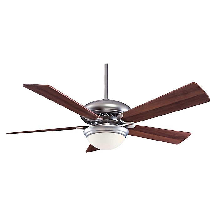 Alternate image 1 for Minka-Aire® Supra® 52-Inch 1-Light Ceiling Fan in Brushed Steel/Walnut