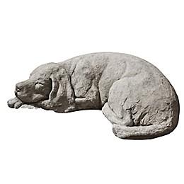 Campania Reclining Dog Garden Statue in Greystone