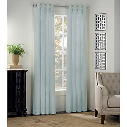 kate spade new york Newport 108-Inch Grommet Window Curtain Panel in Mist