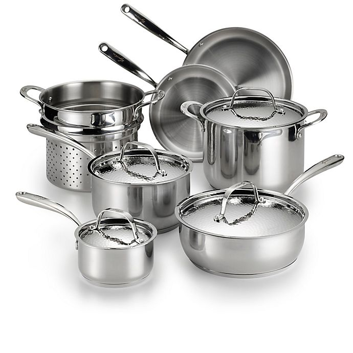 Alternate image 1 for Lagostina Luminosa Stainless Steel 11-Piece Cookware Set