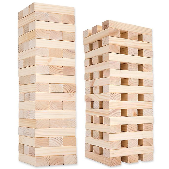 Giant Wooden Blocks Tower Stacking
