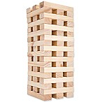 Hey! Play! 8-Inch Giant Wooden Blocks Tower Stacking Game