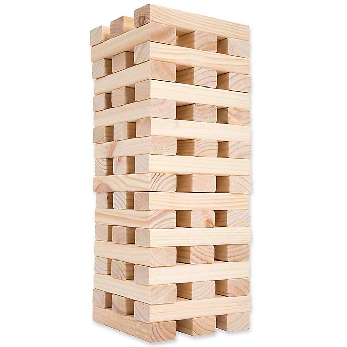 Hey Play Giant Wooden Blocks Tower Stacking Game Bed Bath Beyond