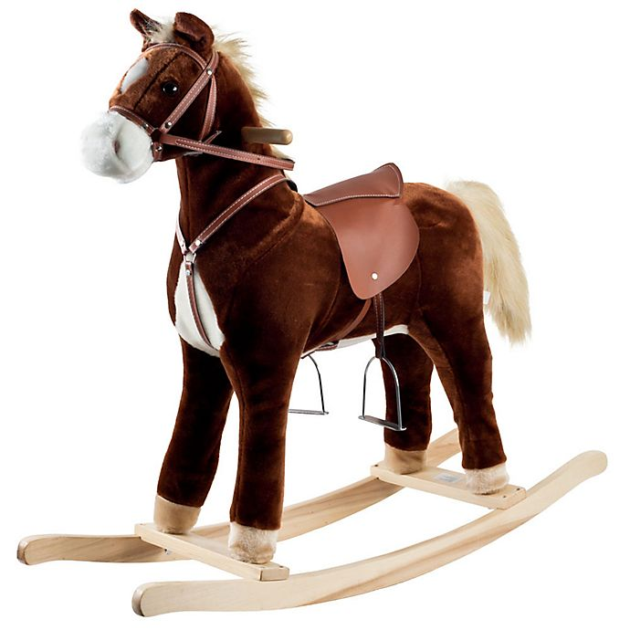 Alternate image 1 for Happy Trails Rocking Horse in Brown