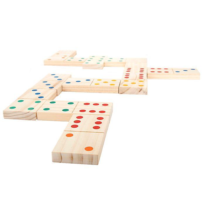 Alternate image 1 for Trademark Games Giant Wooden Dominoes Set