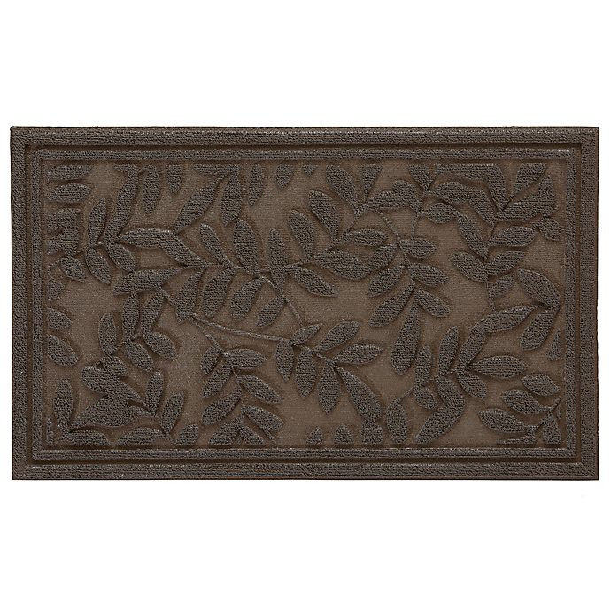 Alternate image 1 for Mohawk Home Monoco Leaves 30-Inch x 18-Inch Door Mat in Brown