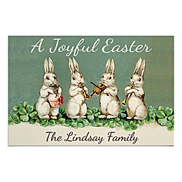 """A Joyful Easter"" 27-Inch x 18-Inch Door Mat in Green"