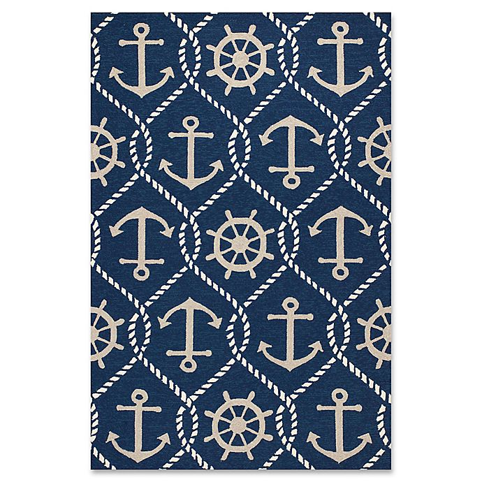 Alternate image 1 for KAS Harbor Marina Indoor/Outdoor Area Rug in Navy