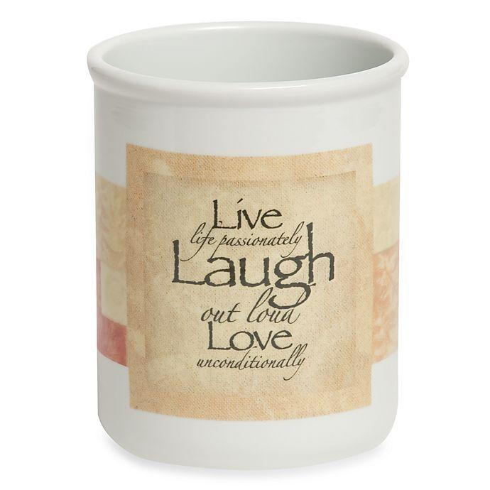 Live Laugh Love Utensil Crock Bed Bath Amp Beyond