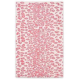 Safavieh Kids® Cheetah Print Rug in Ivory/Red