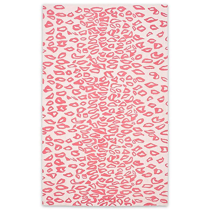Alternate image 1 for Safavieh Kids® Cheetah Print Rug in Ivory/Red