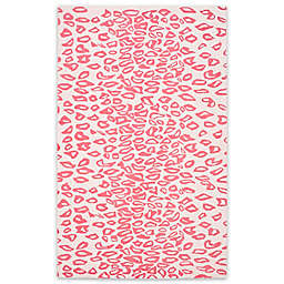 Safavieh Kids® Cheetah Print Rug in Ivory/Red
