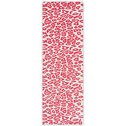 Safavieh Kids® Cheetah Print 2-Foot x 3-Foot Accent Rug in Ivory/Red
