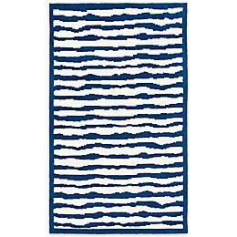 Safavieh Kids® Wave Stripe Rug in Blue
