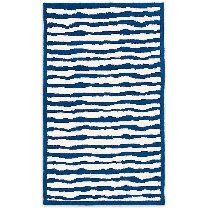 Alternate image 1 for Safavieh Kids® Wave Stripe Rug in Blue