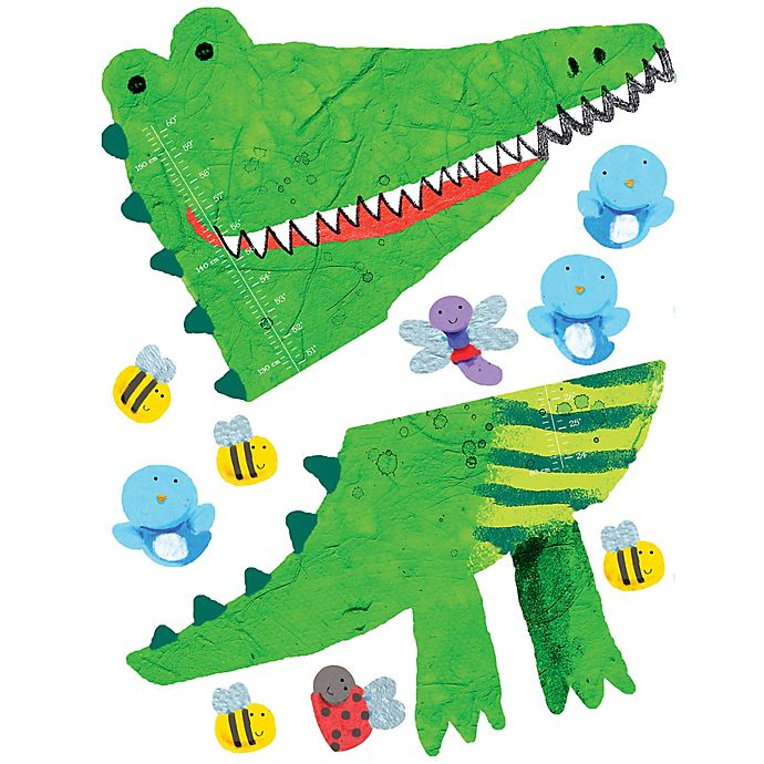 Alternate image 1 for Wallies Crocodile Growth Chart Peel & Stick Wall Decals