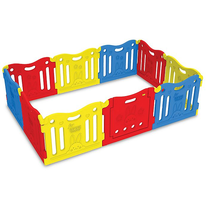Alternate image 1 for BABY CARE™ Funzone Playpen in Red/Yellow/Blue