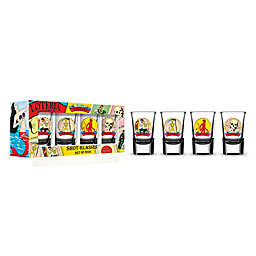 Loteria Male Character Shot Glass (Set of 4)