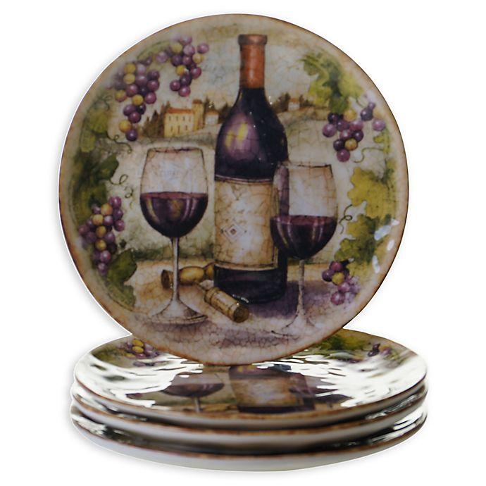 Alternate image 1 for Certified International Sanctuary Wine Salad Plates (Set of 4)