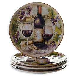 Certified International Sanctuary Wine Salad Plates (Set of 4)