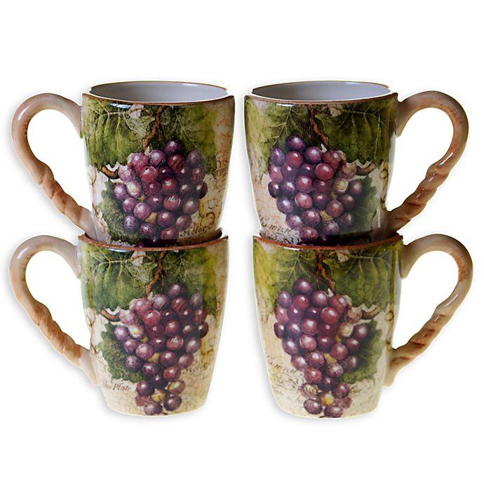 Alternate image 1 for Certified International Sanctuary Wine Mugs (Set of 4)