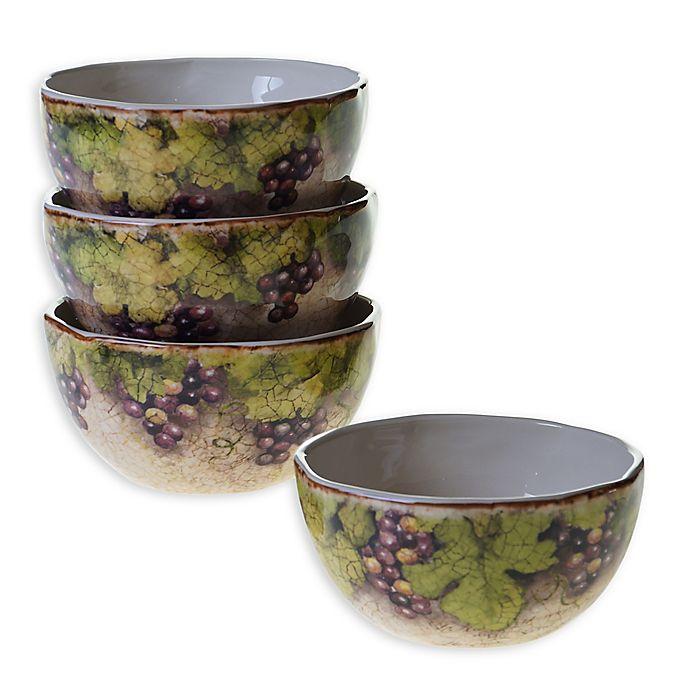 Alternate image 1 for Certified International Sanctuary Wine Ice Cream Bowls (Set of 4)