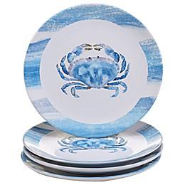 Certified International Beach House Kitchen Crab Dinner Plates (Set of 4)