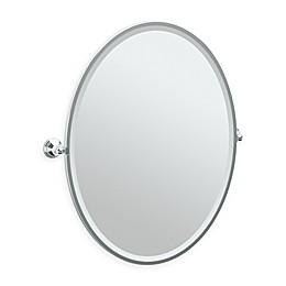 Gatco® Charlotte 33-Inch x 29-Inch Oval Framed Mirror