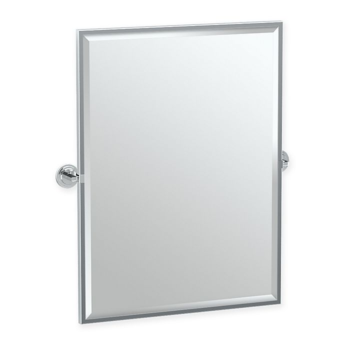 Alternate image 1 for Gatco® Marina 25-Inch x 26-Inch Rectangular Mirror in Chrome