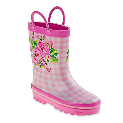 Laura Ashley® Floral Rain Boot in Pink