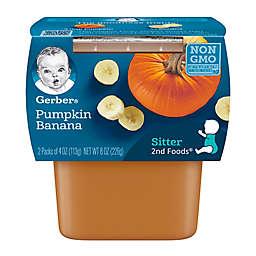 Gerber® 2-Pack 2nd Foods® Banana and Pumpkin Veggies First™ Recipe Baby Food