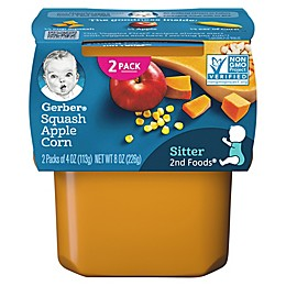 Gerber® 2-Pack 2nd Foods® Squash, Apple, and Corn Veggies First™ Recipe Baby Food
