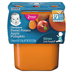 Gerber® 2-Pack 2nd Foods® Sweet Potato, Apple, and Pumpkin Veggies First™ Baby Food