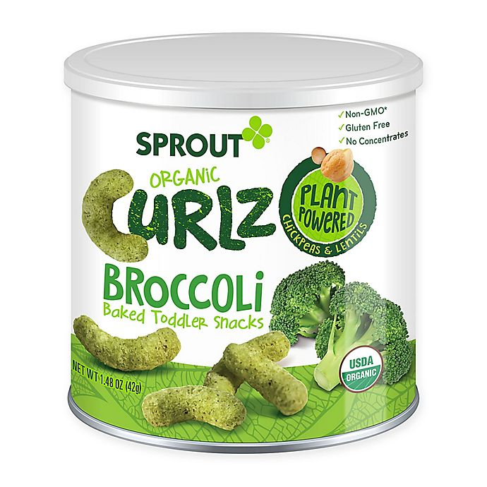 Alternate image 1 for Sprout® 1.48 oz. Broccoli Organic Curlz™ Baked Toddler Snack