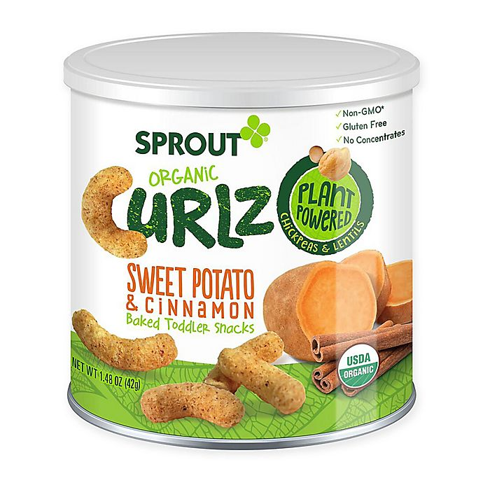 Alternate image 1 for Sprout® 1.48 oz. Sweet Potato and Cinnamon Organic Curlz™ Baked Toddler Snack