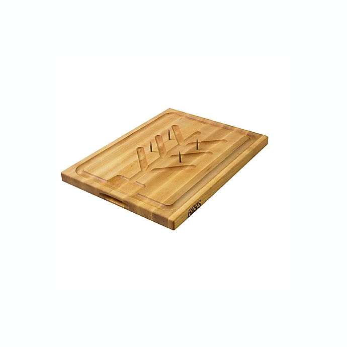 Alternate image 1 for John Boos Reversible 20-Inch x 15-Inch Cutting Board with Pins