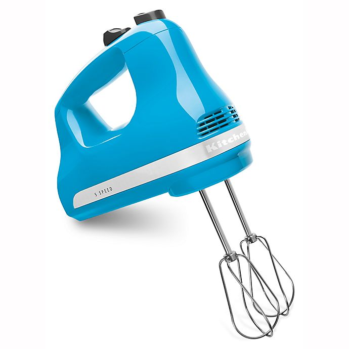 Alternate image 1 for KitchenAid® 5 Speed Hand Mixer in Crystal Blue