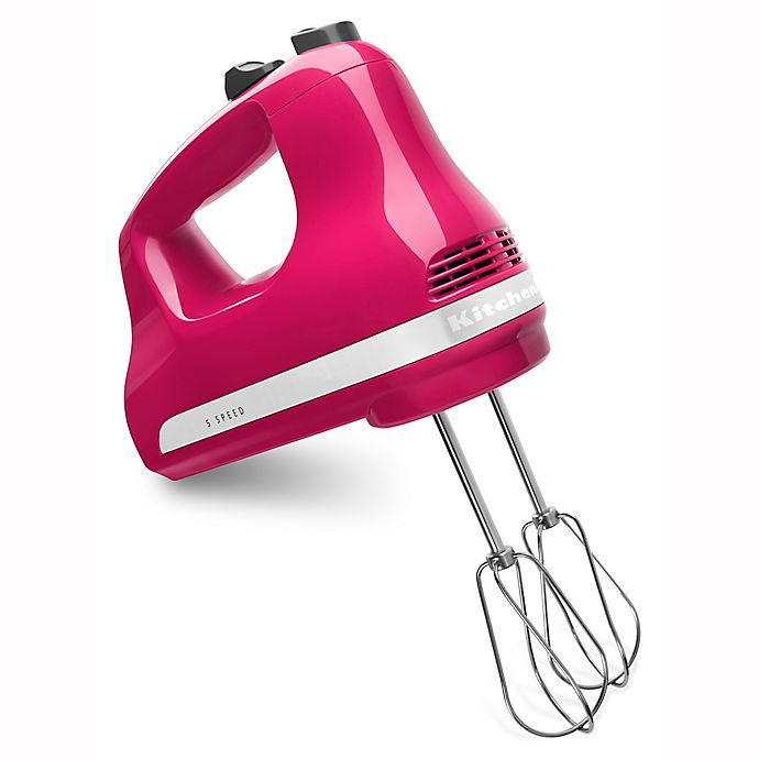 Alternate image 1 for KitchenAid® 5 Speed Hand Mixer in Cranberry