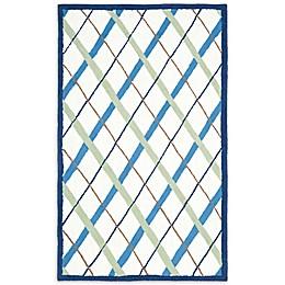 Safavieh Kids® Lattice Rug in Ivory/Blue