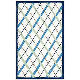 Safavieh Kids® Lattice Rug in Ivory/Blue