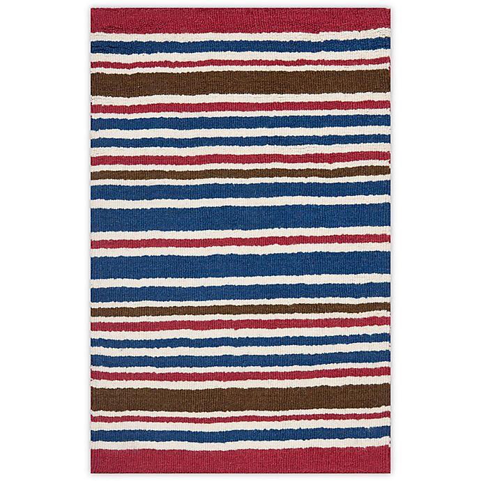 Alternate image 1 for Safavieh Kids® Stripe Print Rugs in Ivory