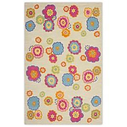 Safavieh Kids® Flower Print Rugs in Light Green