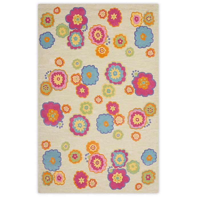 Alternate image 1 for Safavieh Kids® Flower Print Rugs in Light Green