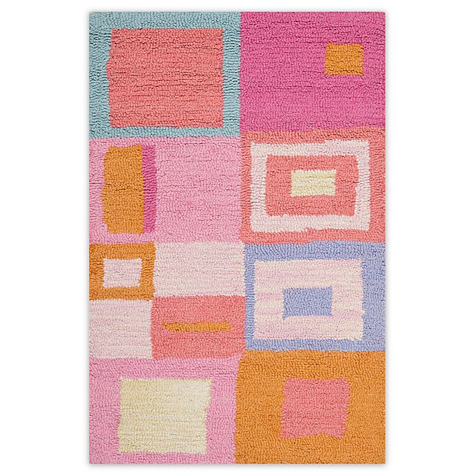 Alternate image 1 for Safavieh Kids Squares Area Rug in Pink
