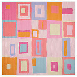 Safavieh Kids Squares 7-Foot Square Area Rug in Pink