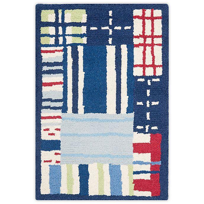 Alternate image 1 for Safavieh Kids® Square Print Rugs in Blue