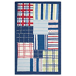 Safavieh Kids® Square Print 8-Foot x 10-Foot Area Rug in Blue