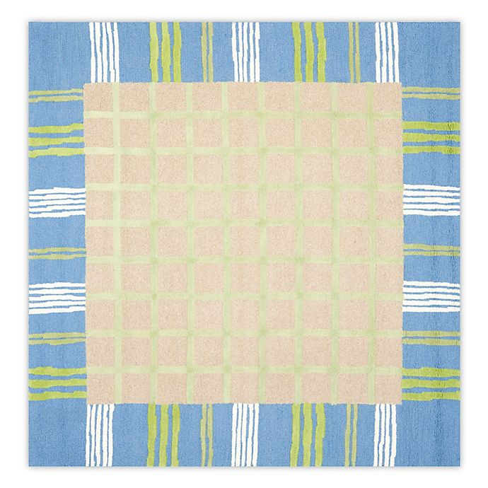 Alternate image 1 for Safavieh Kids 7-Foot Square Rug in Taupe/Blue