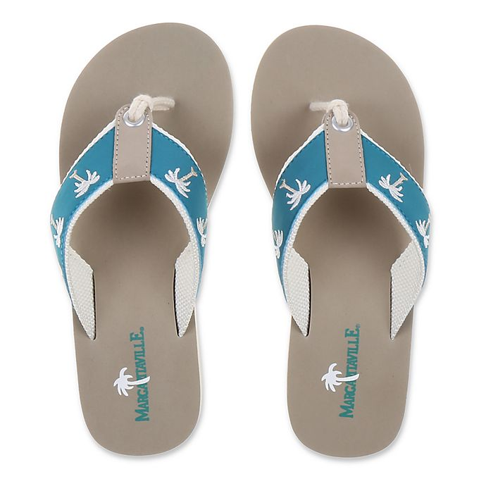 766eb56c7db7 Margaritaville Size 10 Breezy Women s Flip Flop in Harbor Blue