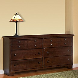 Diego 6-Drawer Dresser in Espresso Pine